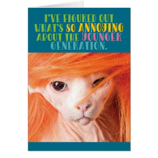 De grappige Oude Lastige Jongere Generatie van de Briefkaarten 0