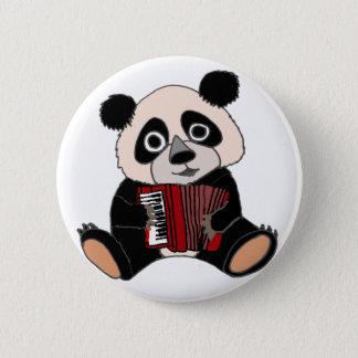 De grappige Panda draagt speel Harmonika Ronde Button 5,7 Cm