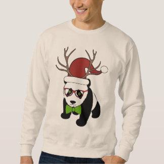 De grappige Panda van Kerstmis Hipster met Trui