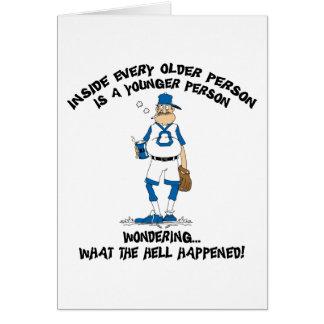 De grappige Papa van het Honkbal van het Vaderdag Wenskaart