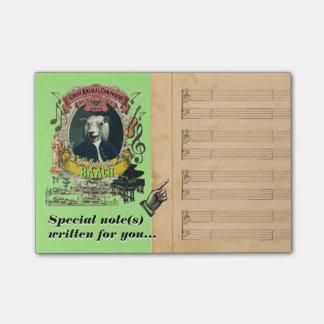 De grappige Parodie van de Muziek van Baach Bach Post-it® Notes