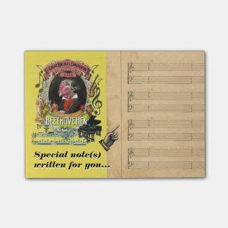 De grappige Parodie van de Muziek van Beethovehen Post-it® Notes