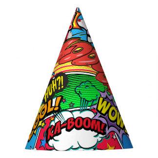 De grappige Partij van de Verjaardag van Superhero Feesthoedjes