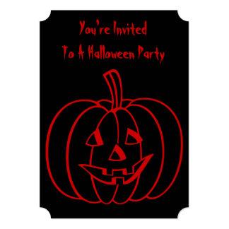 De grappige pompoen van Halloween met verwijderd 12,7x17,8 Uitnodiging Kaart