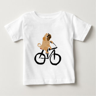 De grappige Pug Berijdende Fiets van de Hond van Baby T Shirts