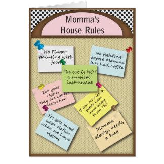 De grappige Regels van het Huis Kaart