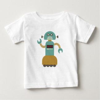 De grappige Retro Robot van de Rol Baby T Shirts