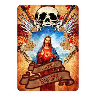 De grappige rots van Jesus 12,7x17,8 Uitnodiging Kaart