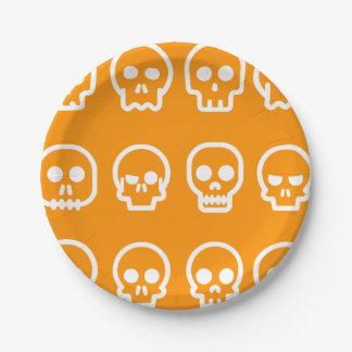 De grappige Schedels van Halloween Papieren Bordje