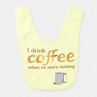 De grappige Slab van het Baby van de Koffie Slabbetje