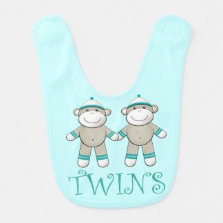 De grappige Slab van het Baby van de Tweelingen Baby Slabbetje