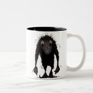 De grappige Sleeplijn van het Monster Tweekleurige Koffiemok