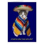 De grappige Spaanse Verjaardag van de Kat/van het Wenskaart
