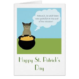 De grappige St. Patrick Kaart van de Dag met Kat
