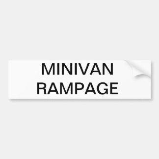 De grappige sticker van familie minivan bumber bumpersticker