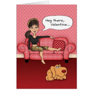 De grappige Suggestieve Kaart van de Valentijnsdag Briefkaarten 0