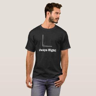 De grappige T-shirt altijd R van de Meetkunde van