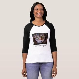 De grappige T-shirt van de Kat van de Gestreepte
