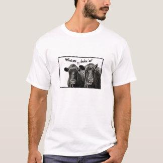 De grappige T-shirt van de Koe met Spreuk