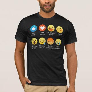De grappige T-shirt van het Voetbal van de Liefde