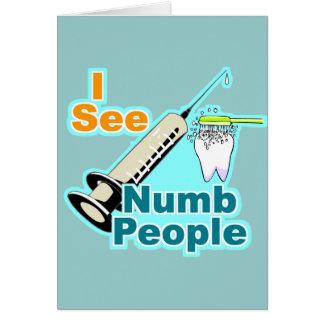 De grappige TandHygiënist van de Tandarts Briefkaarten 0