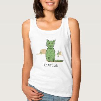 De grappige Tekening van de Cactus Catcus Tanktop