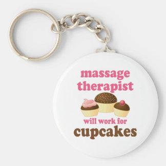 De grappige Therapeut van de Massage van de Chocol Sleutel Hanger