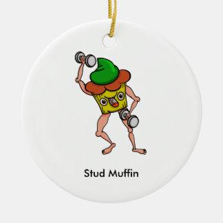 De grappige Training van de Muffin van de Nagel Rond Keramisch Ornament