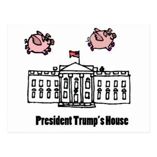 De grappige Troef van het President wanneer de Briefkaart