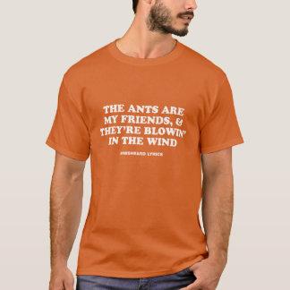 De grappige typografische lyrische gedichten van t shirt
