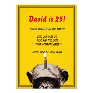 De grappige Uitnodiging van de Chimpansee & van de