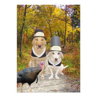 De grappige Uitnodiging van de Thanksgiving van Ho