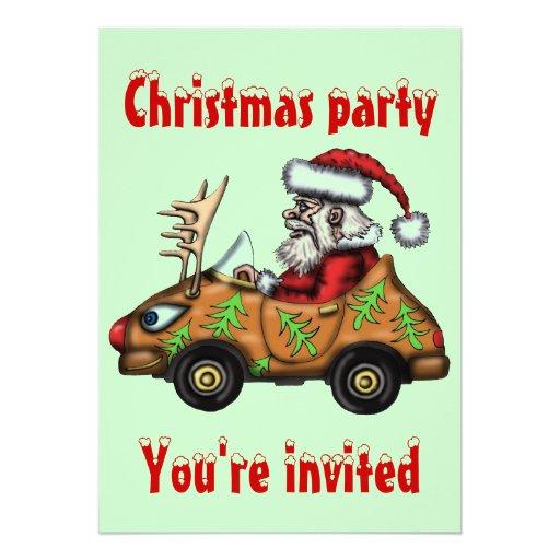De grappige van de bestuurdersKerstmis van de Kers Persoonlijke Uitnodiging