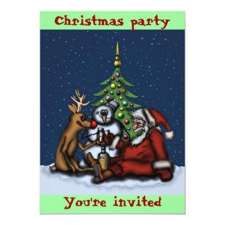 De grappige van de de partijcartoon van Kerstmis k Aankondiging