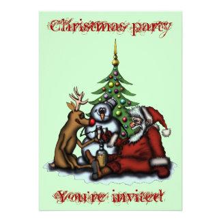 De grappige van de de partijcartoon van Kerstmis k Persoonlijke Aankondiging