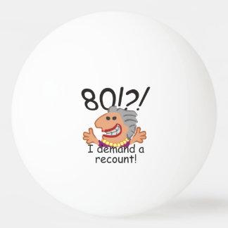 De grappige Verjaardag van de Hertelling Pingpongbal