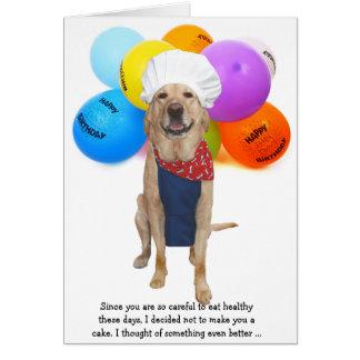 De grappige Verjaardag van de Hond/van het Kaart