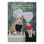 De grappige Verjaardag van de Katten van de Chef-k Kaart