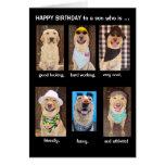 De grappige Verjaardag van de Zoon Wenskaarten