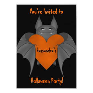 De grappige verliefde vampier van Halloween 12,7x17,8 Uitnodiging Kaart