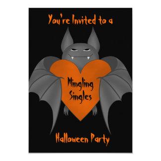 De grappige verliefde vampier van Halloween voor 12,7x17,8 Uitnodiging Kaart