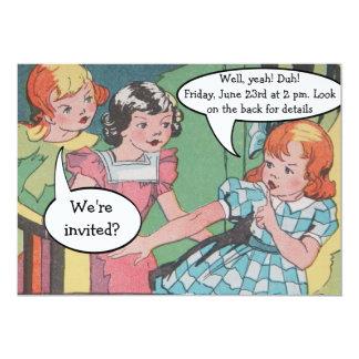 De grappige Vintage Retro Grappige Partij van de 12,7x17,8 Uitnodiging Kaart