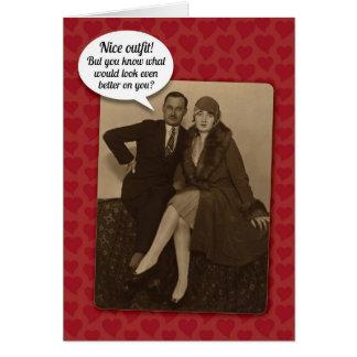 De grappige Vintage Suggestieve Kaart van de Briefkaarten 0