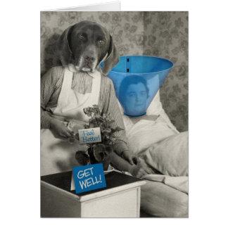 De grappige Vintage Verpleegster van de Hond wordt Kaart