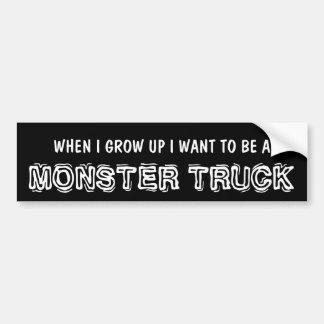 De grappige Vrachtwagen van het Monster voor Opgeh Bumpersticker