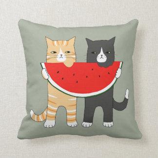 De grappige Watermeloen van de Kat van het Sierkussen