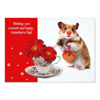 De grappige Wenskaarten van de Valentijnsdag van 12,7x17,8 Uitnodiging Kaart