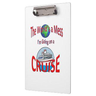 De grappige Werelden knoeien gaan Cruise Klembord