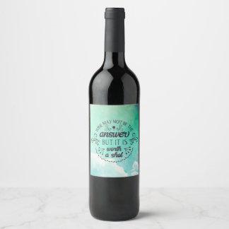 De grappige Wijn mag niet de Fles van de Wijn van Wijnetiket
