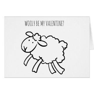De GRAPPIGE Wolachtige Schapen van Valentijn zijn Kaart